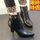 短靴 高跟女靴子-優雅品味造型質感休閒66c17【巴黎精品】