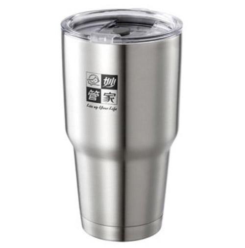 【妙管家】316不鏽鋼勁速保溫杯/冰霸杯 900ml (附防漏蓋)HKVC-900《刷卡分期+免運》