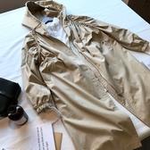 風衣外套-連帽韓版蝙蝠袖長款時尚女大衣2色73oj4【巴黎精品】