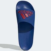 ADIDAS ADILETTE SHOWER SLIDES 男鞋 拖鞋 防水 基本款 藍 紅【運動世界】EE7041