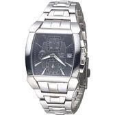 ALBA 決戰未來三眼時尚計時錶-黑(AF8D63X1)
