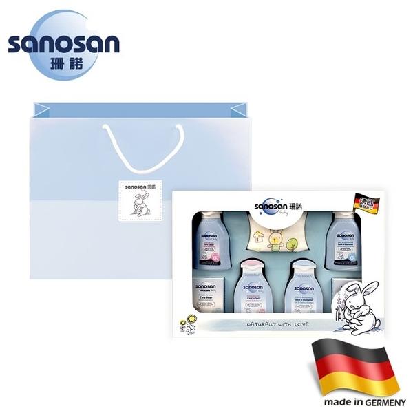 【愛吾兒】德國 珊諾 sanosan baby天然植萃柔膚新生禮盒 附提袋 (SNS080084)