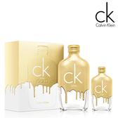 Calvin Klein CK ONE GOLD 黃金限量版中性淡香水禮盒 (200ml+50ml) 航空版 【SP嚴選家】