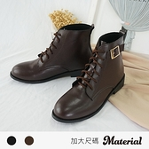 短靴 加大綁帶側扣飾短靴 MA女鞋 T52726