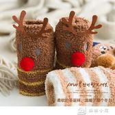 毛襪 珊瑚絨襪子女冬天中筒加絨加厚保暖秋冬季睡眠圣誕月子毛巾地板襪 娜娜小鋪