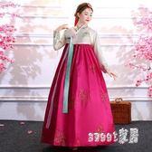 表演服裝 新款韓服宮廷傳統舞蹈服裝朝鮮舞服民族古裝成人朝鮮族女 df7255【Sweet家居】