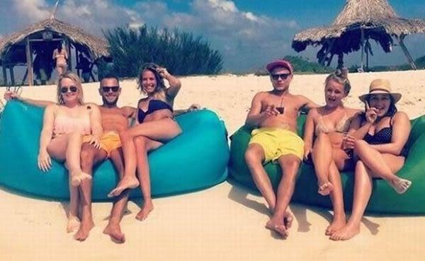 【現貨】睡袋 睡墊 懶人床 空氣沙發 懶人沙發 充氣沙發 戶外露營 野外露營 沙灘坐墊