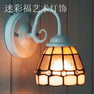 設計師美術精品館特價蒂凡尼小壁燈陽光 簡歐普及臥室床頭燈 過道走廊燈 地中海燈