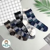【正韓直送】韓國襪子 對色小格子加大男性中筒襪 男襪 長襪 生日禮物 型男必備 哈囉喬伊 M52