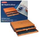 Derwent 達爾文 watercolor aquatone 豪華木盒水溶性48C色鉛筆*07000758