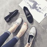七夕情人節禮物英倫風女鞋子春季單鞋女中跟粗跟20182018新款社會韓版百搭樂福鞋