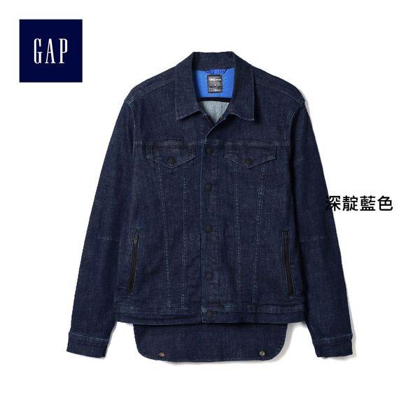 Gap男裝 休閒風格深色水洗長袖牛仔夾克 194531