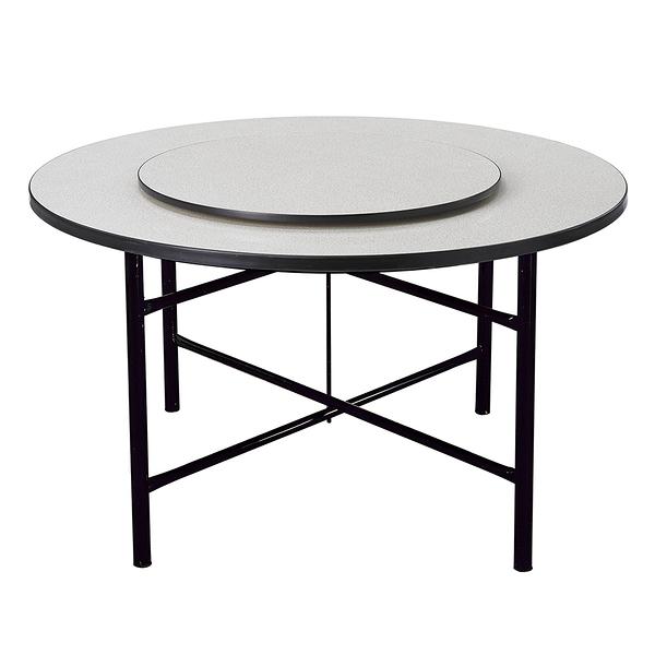 【森可家居】白碎石面4尺圓桌(附2.5尺轉盤) 9SB387-1 商用 餐廳