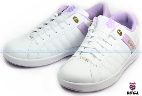 K-SWISS 新竹皇家 LUNDAHL WT S 白紫 皮質 休閒鞋 女款 NO.I6626