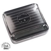 半自動捲菸器 70mm金屬捲菸盒 手捲菸 菸紙捲煙器 MASCOTTE 不鏽鋼 捲菸機(37-774)