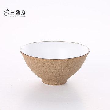 陶泥大口茶具杯