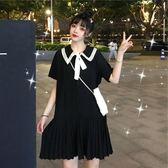 中大呎碼微大碼女孩穿搭夏新款洋氣連身裙子流行遮肚肉顯瘦潮減齡 新品