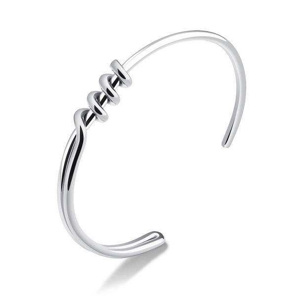 【5折超值價】時尚精美特色螺旋造型鈦鋼女款手環