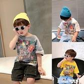 男童短袖T恤潮寶寶夏季洋氣打底衫小兒童夏裝半袖上衣韓版2021新