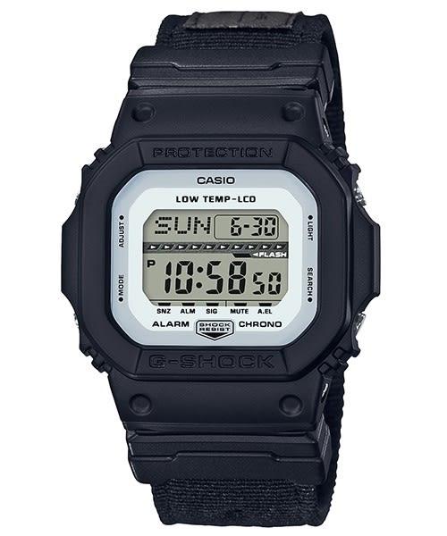 GLS-5600CL-1(黑白)不鏽鋼錶扣。G-SHOCK(原廠公司貨)