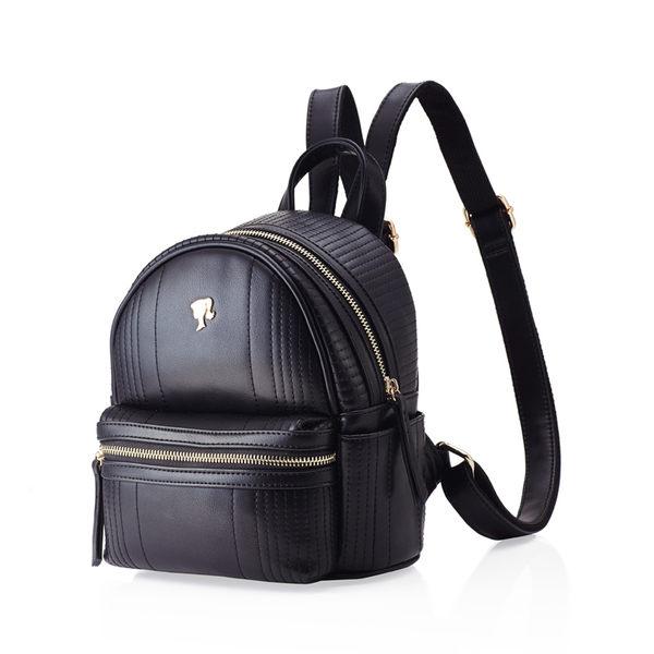 芭比學院系列 時尚簡約粗車線花紋雙肩背包