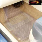 環保PVC乳膠防水通用塑料汽車腳墊透明易清潔整套4片裝  one shoes YXS