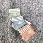 ADIDAS 3色糖果襪 粉 果綠 水藍 三雙一組