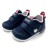 《7+1童鞋》寶寶 日本月星 MOONSTAR 透氣網布 機能運動鞋 學步鞋 D448 藍色