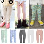 女童9分白色打底褲 9分褲 長褲 薄長褲 Augelute 35291