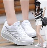 增高鞋 搖搖鞋女2020新款網面休閒運動鞋秋冬女鞋跑步旅遊鞋厚底單鞋