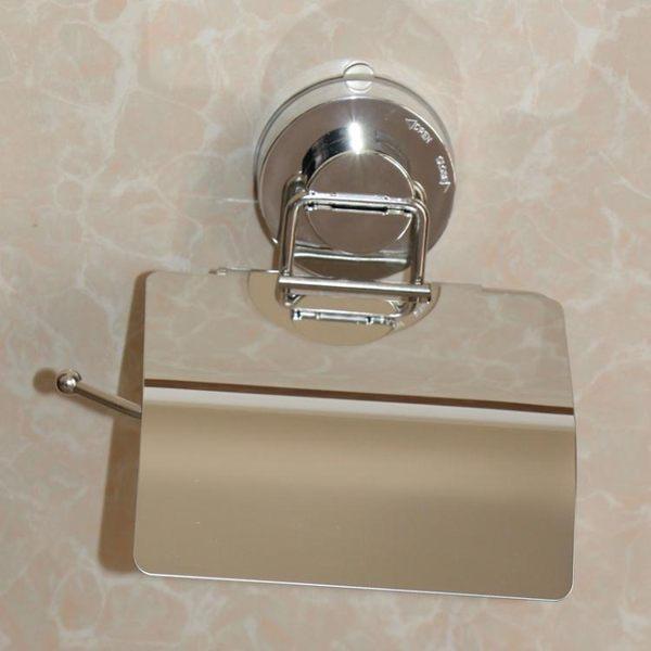 強力吸盤紙巾架浴室衛生間廁所捲紙架帶蓋 創意防水廁紙架抽紙架【蘇迪蔓】