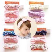 髮帶 女童 寶寶 棉質 三條組合 蝴蝶結 打結造型 髮飾 BW
