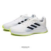 ADIDAS 慢跑鞋 DURAMO SL 白黑 螢光綠 輕量 訓練 運動鞋 男 (布魯克林) FY6683