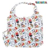 【SAS】日本限定 蠟筆小新 野原新之助 & 小白 & 小葵 折疊收納式 購物袋 / 環保袋 / 手提袋