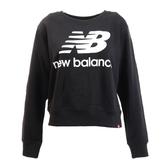 New Balance 女款黑色長袖基本休閒上衣-NO.AWT91585BK