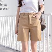 五分褲 bf風休閒褲女純棉百搭中褲大碼學生寬松短褲女褲顯瘦直筒