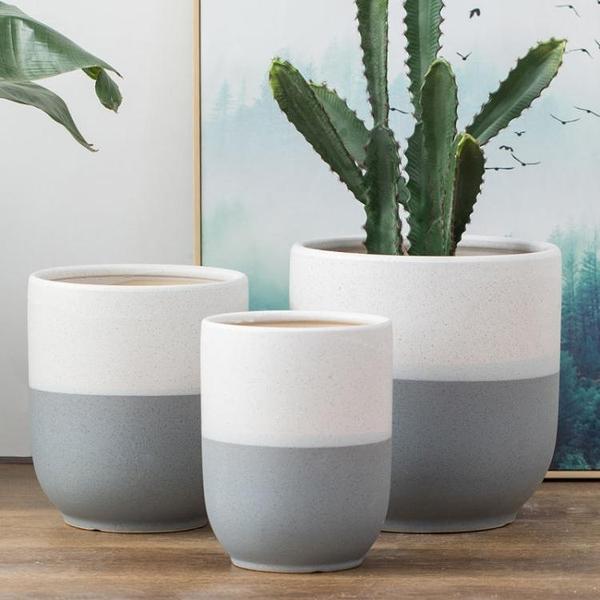 花盆 特大陶瓷花盆簡約個性綠植種樹落地客廳庭院大花盆