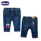 chicco- To Be BB-怪獸繡圖彈性牛仔長褲