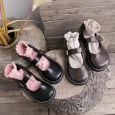 小皮鞋軟妹小皮鞋女日繫英倫復古學院風chic黑色瑪麗珍jk單鞋大頭娃娃鞋  全館免運