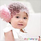 蕾絲寬髮帶 女童髮飾-新款雪紡髮網小公主大花朵頭飾-JoyBaby