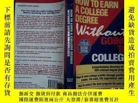 二手書博民逛書店How罕見to Earn a College Degree Wi