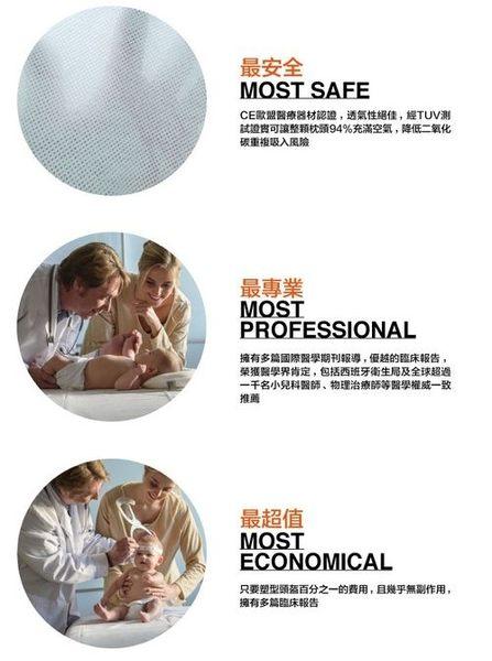 Mimos 3D自然頭型嬰兒枕【枕頭+湖綠色枕套】S/M[衛立兒生活館]