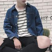 港風帥氣牛仔外套韓版學生秋季ulzzang寬鬆情侶夾克潮流男生上衣