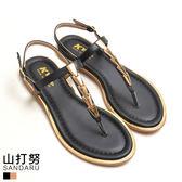 涼鞋 滾邊金屬釦飾夾腳鞋- 山打努SANDARU【033452#46】