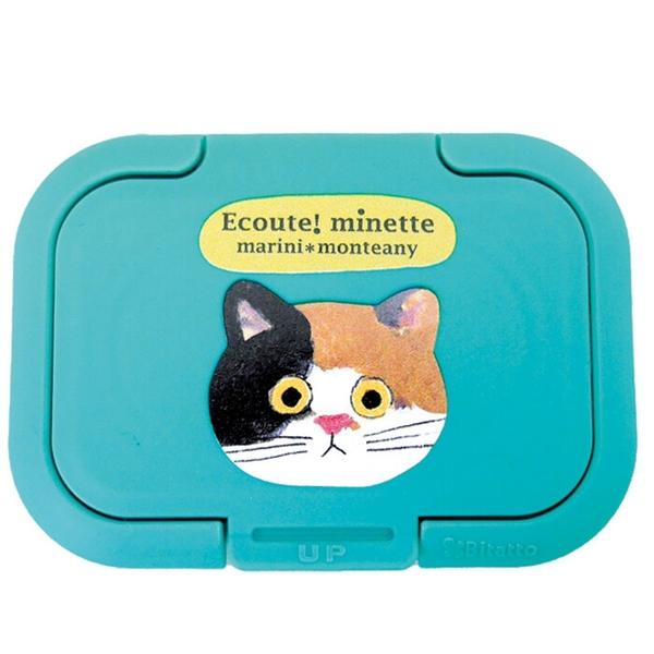 【日本製】【ECOUTE!】濕紙巾收納封口蓋 花貓圖案(一組:3個) SD-9009 - ECOUTE! 日本製