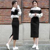 套裝女 冬裝針織氣質毛衣加裙子兩件套裙 套裝chic秋裝俏皮洋氣冬YYP   傑克型男館