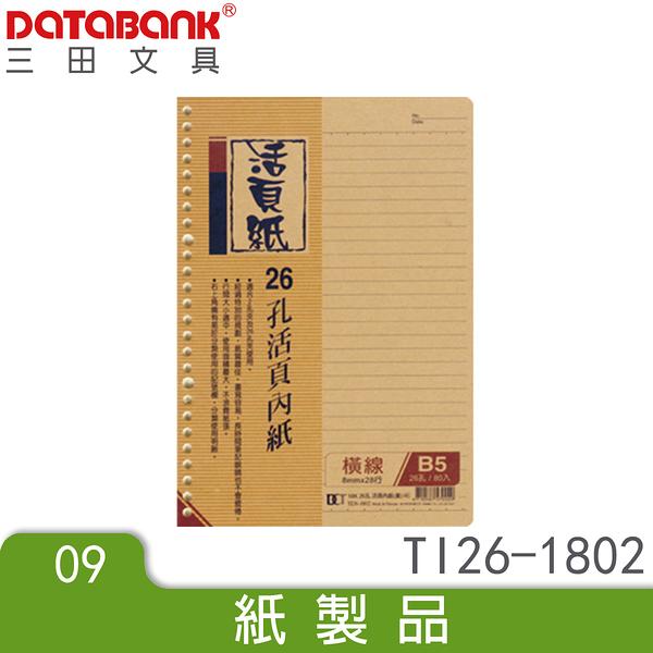 18K 26孔黃色活頁紙(TI26-1802) 手札 小手冊 小記事本 memo紙 文件紀錄紙 DATABANK