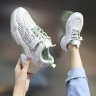 老爹鞋 老爹鞋女夏季新款厚底內增高女鞋網面透氣百搭休閒運動鞋春款-Ballet朵朵