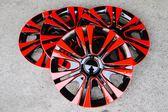 黑紅款 改裝亮面款 仿鋁圈樣式 通用型 汽車13吋14吋 專用 輪圈蓋 鐵圈蓋 4片入 無LOGO字樣