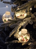 圣誕節裝飾品場景布置商場店鋪店面櫥窗圣誕樹創意道具掛件led燈